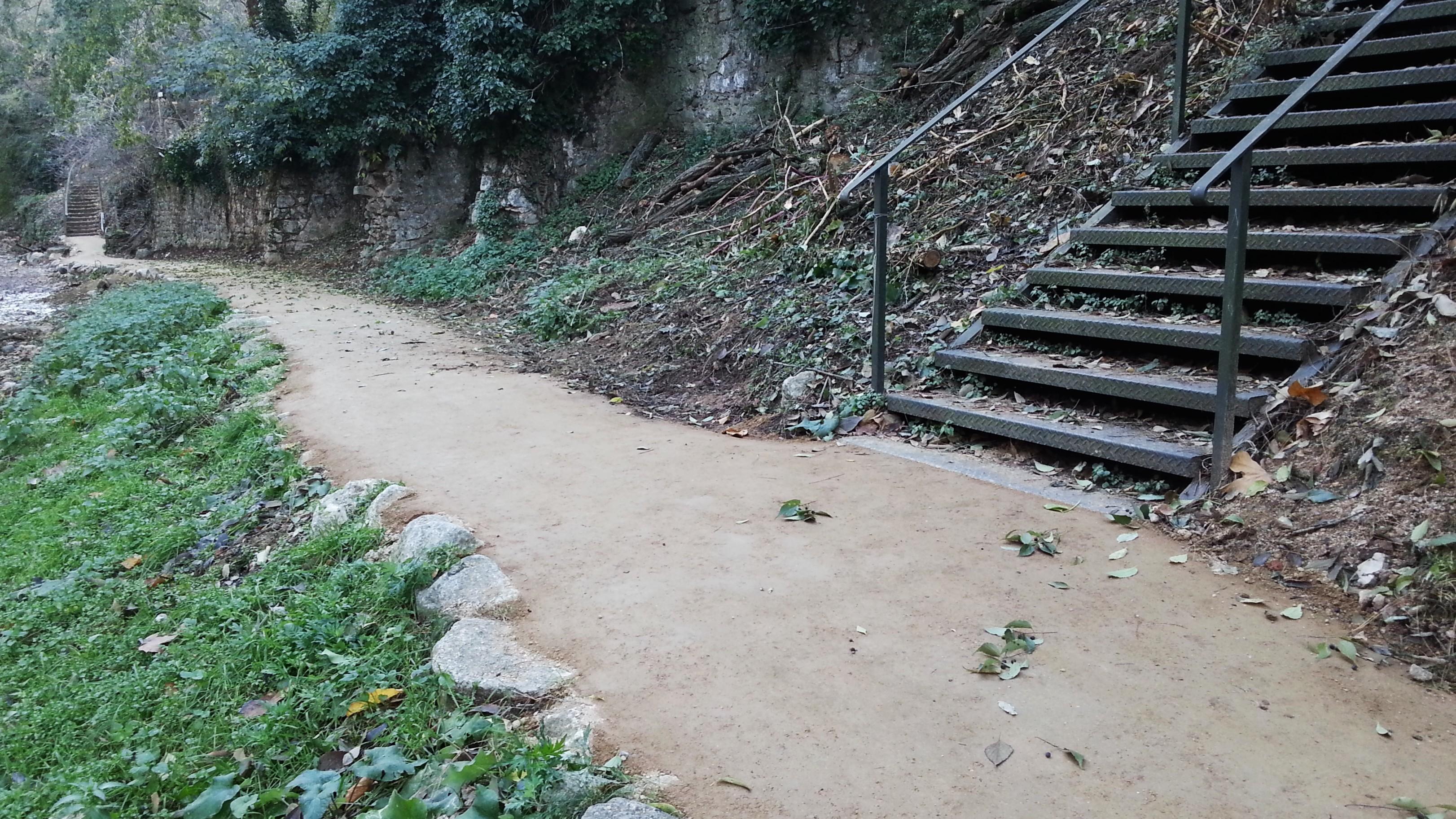 Estabilització SAULO SOLID - Itinerari riera de Galligants, Vall de Sant Daniel (Girona)